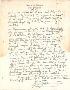 Diary of Ferdinand Marcos - Loose Pages and Attachments (1970) 68